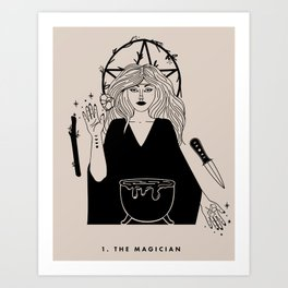 1. The Magician Art Print