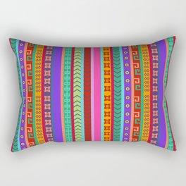 Ethnic Peruvian Motif Striped Pattern Rectangular Pillow