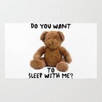 teddy bear Area & Throw Rugs featuring teddy bear by ulas okuyucu