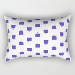 Purple Birkin Vibes High Fashion Purse Illustration Rectangular Pillow