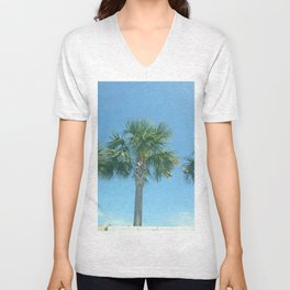 Three Palm Trees or Whatever Fits on the Product You Like Unisex V-Neck