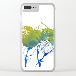 Natural ink Clear iPhone Case