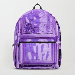 Purple window. Backpack