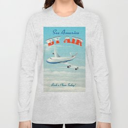 See America By Air Commercial Airliner travel poster. Long Sleeve T-shirt