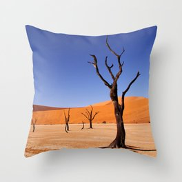 Dead Vlei Namibia VII Throw Pillow