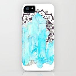 Aqua Aura Mandala iPhone Case