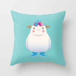 Cute Yeti Throw Pillow
