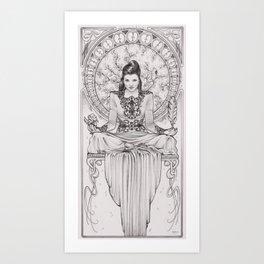 Art Nouveau Evil Queen II Art Print