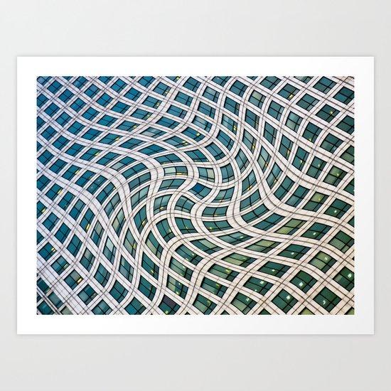 Canary Wharf Windows Art Print