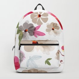Cute soft spring pattern with flowers Backpack