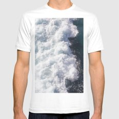 sea - midnight blue wave Mens Fitted Tee White MEDIUM