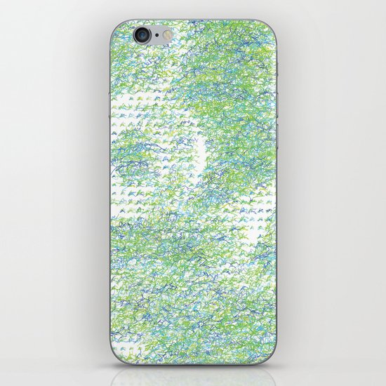Peacock Feathers Doodle iPhone & iPod Skin
