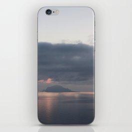 sunrise over the sea, sicily iPhone Skin