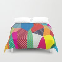 dots Duvet Covers featuring Dots by Joe Van Wetering