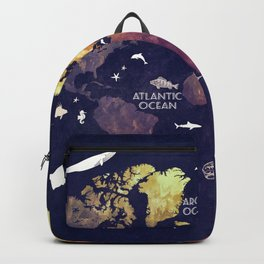 world map 11 Backpack