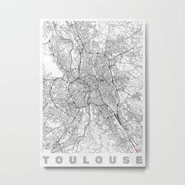 Toulouse Map Line Metal Print