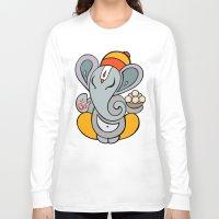 hindu Long Sleeve T-shirts featuring Hindu God Ganapati (Ganesha). Hand drawn illustration. by Katyau