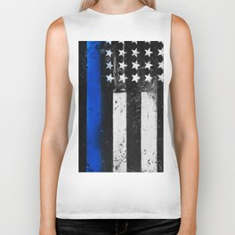 Thin Blue Line - Back the Blue Biker Tank