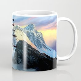 To Change The World Inspirational Tibetan Proverb With Panoramic View Of Everest Mountain Painting Coffee Mug