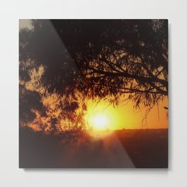 Sunset Silhouettes | Beautiful Nature Metal Print