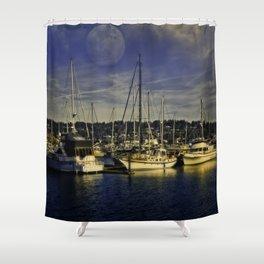 Sleeping Ships Shower Curtain