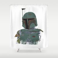 boba fett Shower Curtains featuring Boba Fett by Hey!Roger