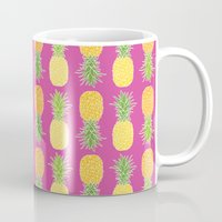 pineapples Mugs featuring Pineapples by Ornaart