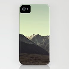 here on the mountain, the air is clear  iPhone (4, 4s) Slim Case