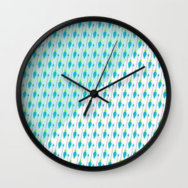 Artistic green teal hand painted bohemian arrows Wall Clock