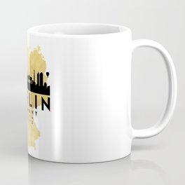BERLIN GERMANY SILHOUETTE SKYLINE MAP ART Coffee Mug