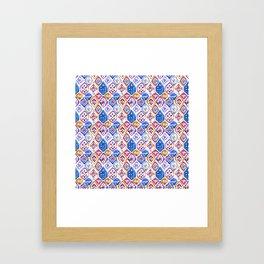 mosaic balinese ikat print mini Framed Art Print