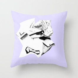 Glitch Scrunch Purple Throw Pillow
