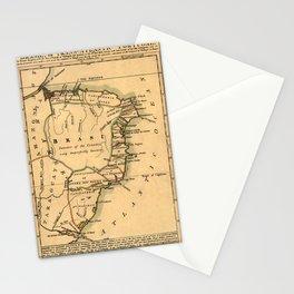Map Of Brazil 1808 Stationery Cards