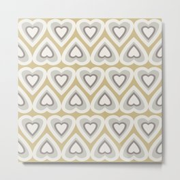 Caramel & Cream Love Hearts In The Spring Metal Print