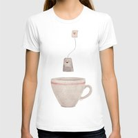 tea T-shirts featuring Tea by Lime