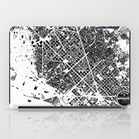 barcelona iPad Cases featuring Barcelona by Maps Factory