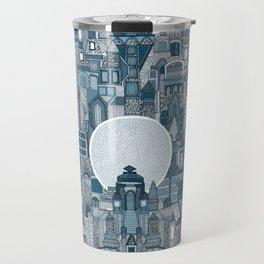 space city mono blue Travel Mug