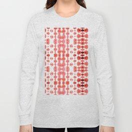 Coral Shibori Habatoi Ikat Long Sleeve T-shirt
