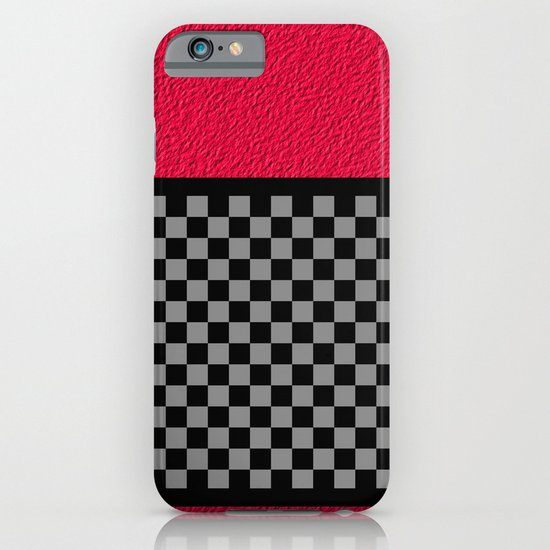 Checkered/Textured Red iPhone & iPod Case