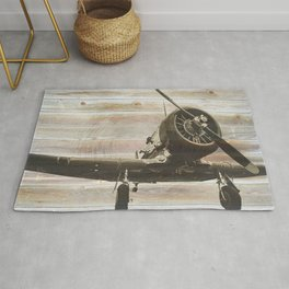 Old airplane 2 Rug