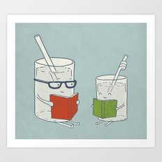 Reading Glasses Art Print