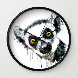 Lemur Head Wall Clock