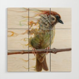Sparrow Wood Wall Art