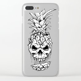 Skull Pineapple Fruit Clear iPhone Case