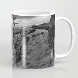 Withered Tree on top of Mountain Range, Big Bend - Landscape Photography Coffee Mug