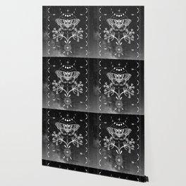 Magical Moth Black Wallpaper