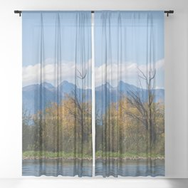 Autumn in Kamchatka Sheer Curtain