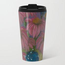 Pink cone flowers in vase Travel Mug