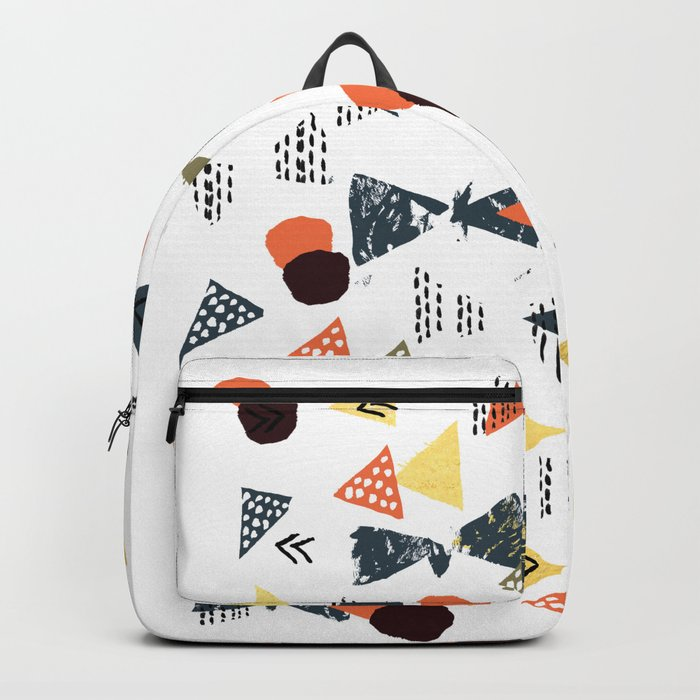 Laange - texture brushstroke art abstract painting print stamp free spirit hipster festival  Backpack