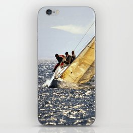 sailing racers iPhone Skin